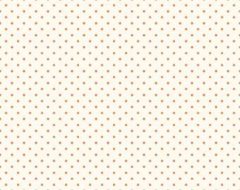 Riley Blake Designs, Swiss Dots in Cream Orange  (C600 60)