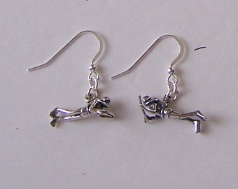 Sterling Silver 3D SCUBA DIVER Earrings - Watersports