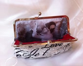Photo lining  for Bridesmaid Clutch Personalized Custom