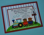 Choo-Choo Train Invitation