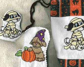 Halloween Puppies Machine Embroidery Designs