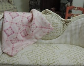 quilt embroidered shabby country dollhouse scale