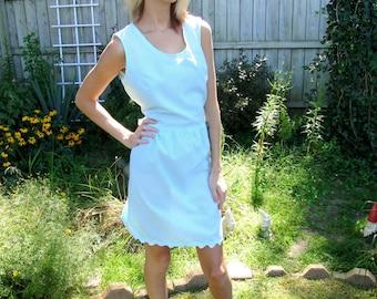Seersucker Gingham Checked Hand Made Dress