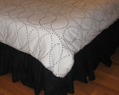 Custom Listing for Candace - Extra Long Twin Size Cotton RUFFLED Bed skirts