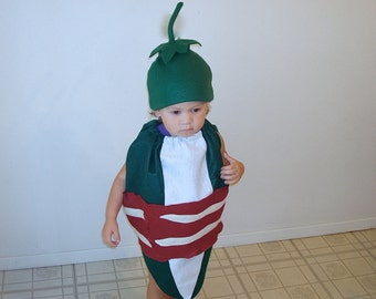 Baby Jalapeno Popper Costume Halloween Costume Bacon Wrapped Photography Prop Food Costume