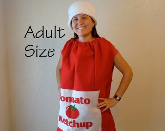 Adult Costume Halloween Ketchup Bottle Teen Food Costume Couple Group