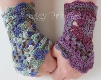 Crocheted Cuffs - Fingerless Gloves - Wrist Warmers - Hand Crocheted