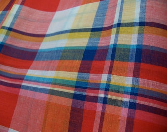 polyester cotton blend plaid fabric