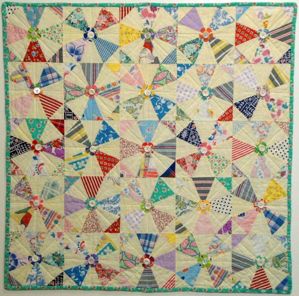 Wall Art Quilt From Hollyhock Quilts Recycled Vintage