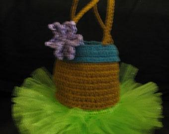 Hula Girl, Island Girl, Crochet Purse, mini