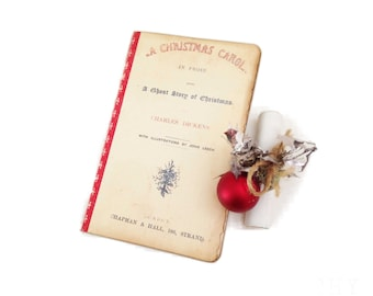 Christmas Carol Journal, Mini Kraft Journal, Christmas Planner,  Facsimile Christmas Carol, Teacher Gift, Scrooge, Stocking Stuffer