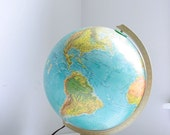 Vintage illuminated globe Replogle World Horizons series