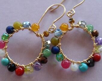 Kaleidoscope Gold Earrings small