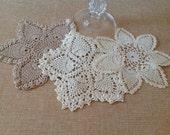 Vintage Crochet Doilies - Set of three