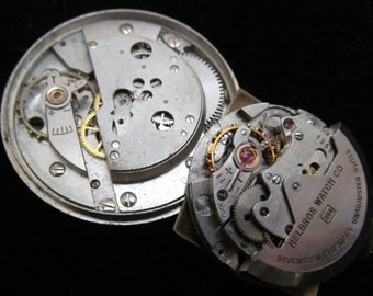 Gorgeous Helbros Watch Movements Steampunk Altered Art Assemblage Industrial PQ 43