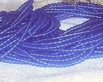 Translucent Blue 3mm Round Plastic Beads, Watery blue Color, More than 3200 beads