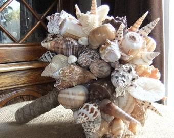 Beach Wedding Seashell Bridal Bouquet