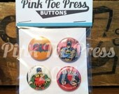 Batman Pinback Button Pack of 4