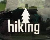 Hiking - camping - biking - graphic car window vinyl decal - hiking gear - hike - hiking vinyl car sticker -  window sticker - camping gear