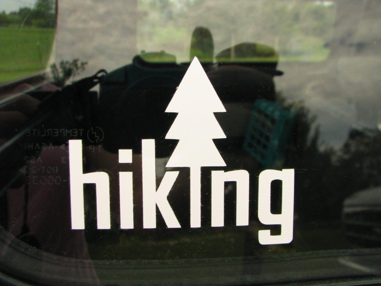 Hiking Camping Biking Graphic Car Window Vinyl Decal - Car window vinyl graphics