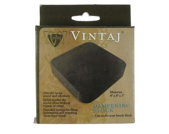 "VINTAJ DAMPENING BLOCK - 4"" x 4"" Rubber Bench Block Base Tool to Absorb Sound and Vibration"