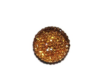 20mm round and sparkly cabochon in light orange
