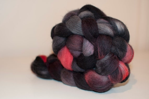 104g Handpainted Cheviot Fibre in Roulette Colourway