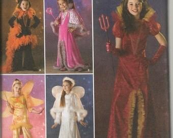 2008 Little Girls Costume Pattern Simplicity Witch Fairy Angel Princess Uncut Sizes  3 - 6