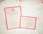 Custom Layered Invitation with Ribbon Corners