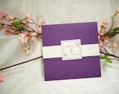 Custom 7 x 7 Square Pocketfold Invite
