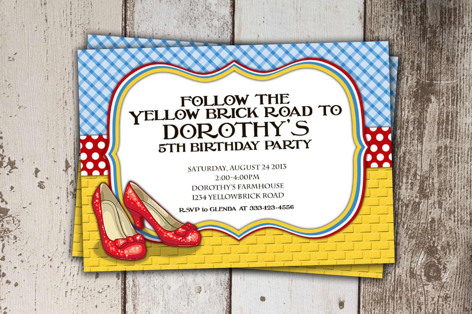 Wizard Of Oz Birthday Invitations and get inspiration to create nice invitation ideas