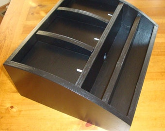 Unpainted Wood Charging Station / Valet / Organizer w/iPad Compartment