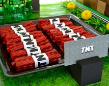 Minecraft Party decor TNT Wraps (Digital/Printable File)