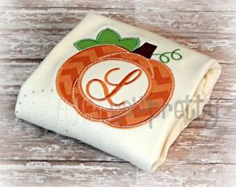 Monogram Pumpkin Embroidery Applique Design