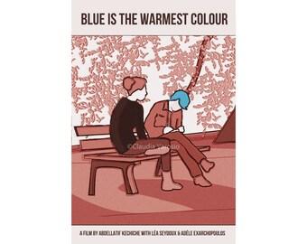 Blue is the Warmest Colour, or La Vie d'Adèle – Chapitres 1 & 2, 12x18 inches movie poster