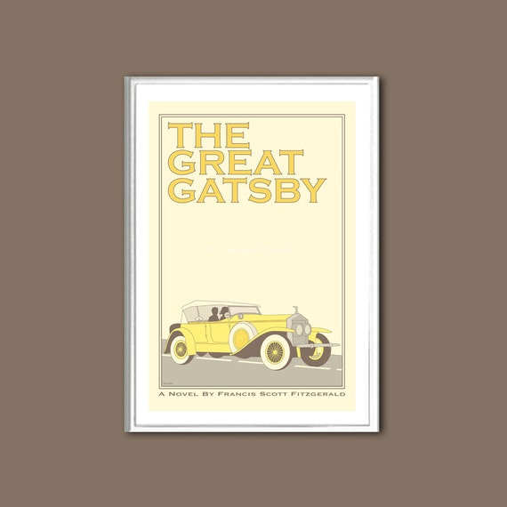 Poster The Great Gatsby retro print in various sizes