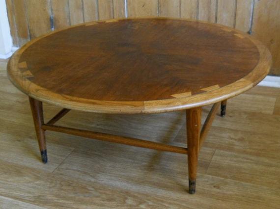 vintage lane round coffee table danish modern mid century. Black Bedroom Furniture Sets. Home Design Ideas
