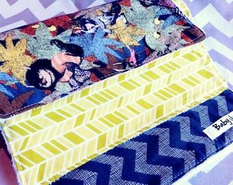 Wild Things Burp cloths set of 3 in Modern Fabrics