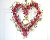Pink Heart Wreath Carnation Pink Paper Roses By