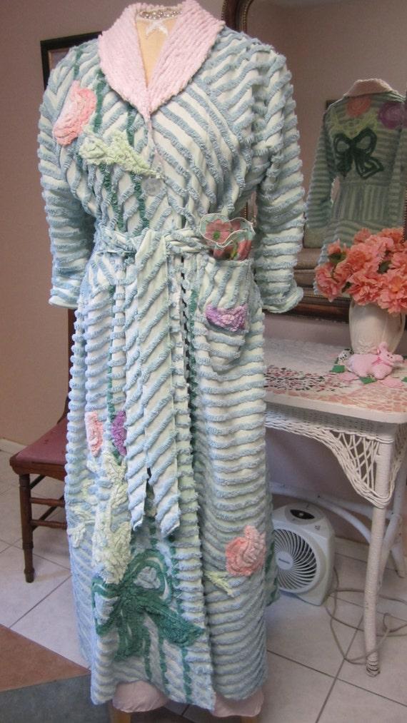 Item 41 Chenille Glamour Girl Bath Robe Women By