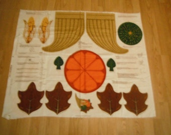Thanksgiving Fall Panel Fabric Centerpiece Harvest Horn of Plenty Cranston VIP Print Works Quick and Easy Project
