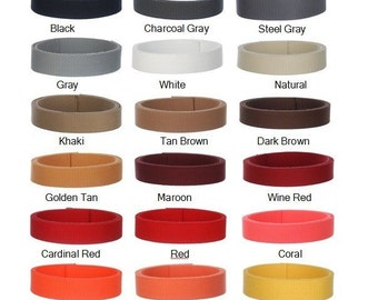 20 Yards  1.25 Inch Heavy Cotton Webbing   -  45 GORGEOUS COLORS  - Mix & Match - Unbelievable Prices