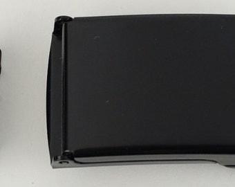"Belt Buckle and End Tip -Flip Top Style - BLACK 1"""