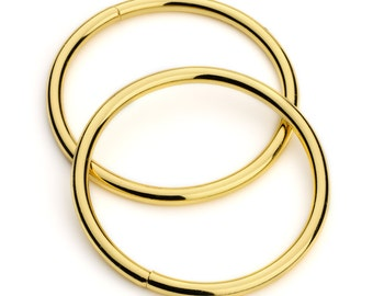 "10pcs - 2"" Metal O Rings Non Welded Gold - Free Shipping (O-RING ORG-133)"