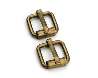 "10pcs - 1/2"" Roller Pin Belt Buckles - Antique Brass - Free Shipping (ROLLER BUCKLE RBK-102)"