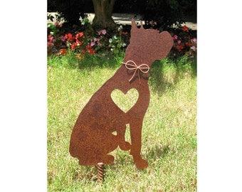Boxer Dog Metal Garden Stake - Metal Yard Art - Metal Garden Art - Pet Memorial - 2