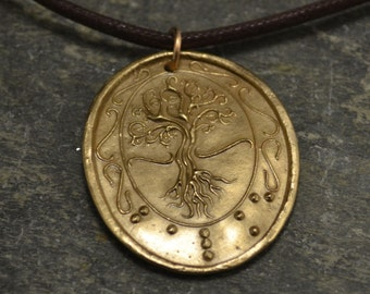 Tree of Life in Braille Bright bronze