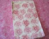 Paper Bags, Pink Paper Bags, Gift Bags, Favor Bags, Pink and White Flowers, Merchandise Bags, Flat Paper Bags 6x9 Pack 100