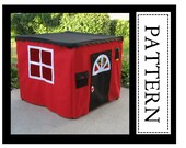 Card Table Playhouse Sewing Pattern, Basic Edition, Sew a Cute Playhouse in Two Hours