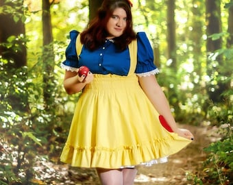 Plus Size Snow White Jumper Adult Halloween Costume -Custom to your size 2XL-5XL